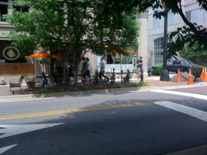 Orange abounds on 4th Street
