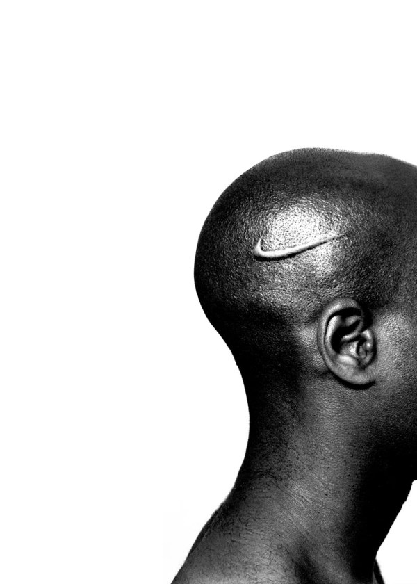 "Hank Willis Thomas, ""Branded Head, series: Branded,"" Lambda photograph, 2003"