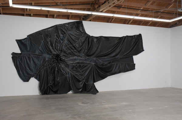 "Rodney McMillian, ""Untitled,"" Vinyl and thread, 2010"