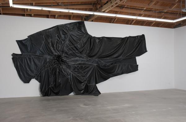 "Rodney McMillian, ""Untitled,"" Vinyl and thread, 2010"