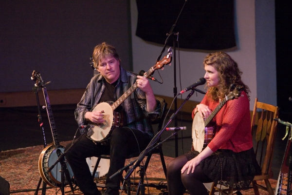 Crossroads #009 performers Béla Fleck and Abigail Washburn at SECCA Winston-Salem