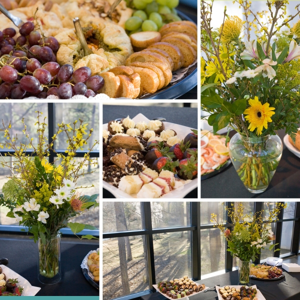 Opening reception refreshments at SECCA | Winston-Salem Contemporary Art